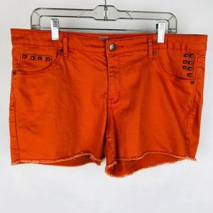 Mossimo Studded Orange Cutoff Shorts